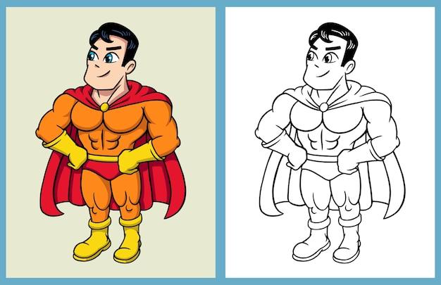 Estilo De Livro De Colorir Do Personagem De Desenho