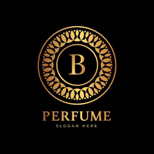 Estilo de luxo para o logotipo do perfume Vetor grátis