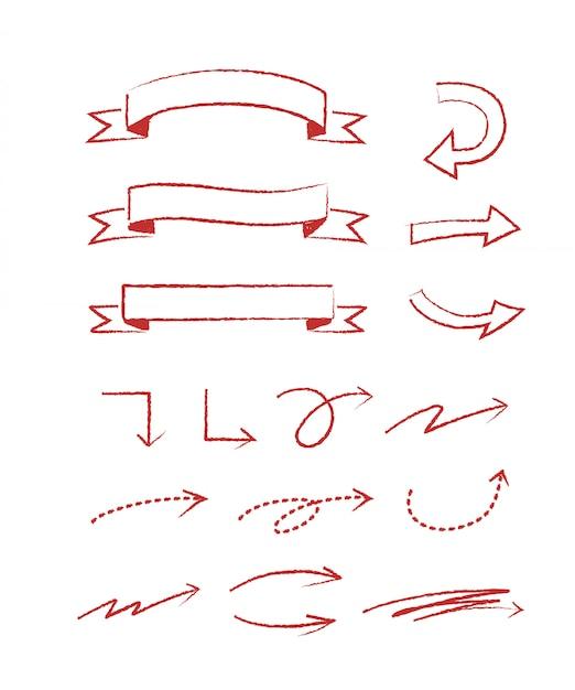Estilo de mão desenhada para conceito de design. ilustração doodle. modelo para decoração Vetor Premium