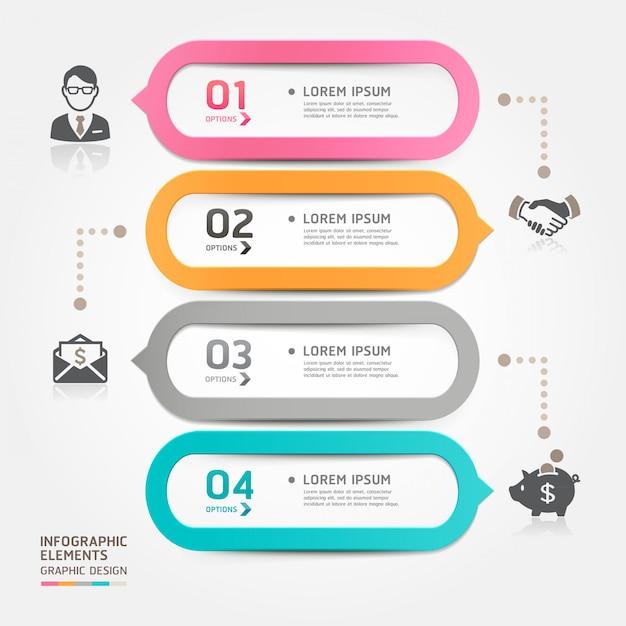 Estilo de modelo de discurso de bolha empresarial moderno. Vetor Premium