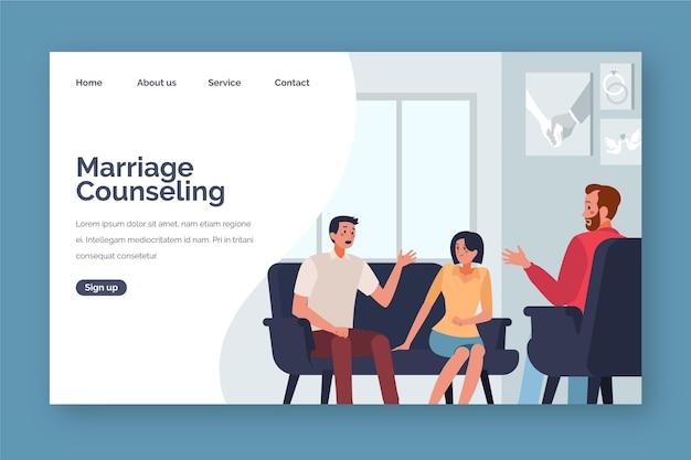 Estilo de página de destino de aconselhamento matrimonial Vetor grátis