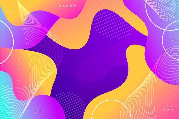Estilo de papel de parede abstrato colorido Vetor grátis