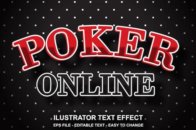 Estilo de poker com efeitos de texto editável Vetor Premium