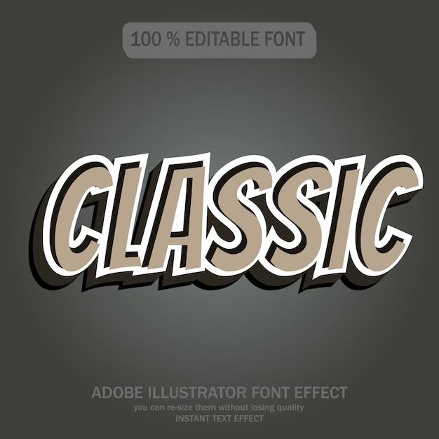 Estilo de texto clássico Vetor Premium