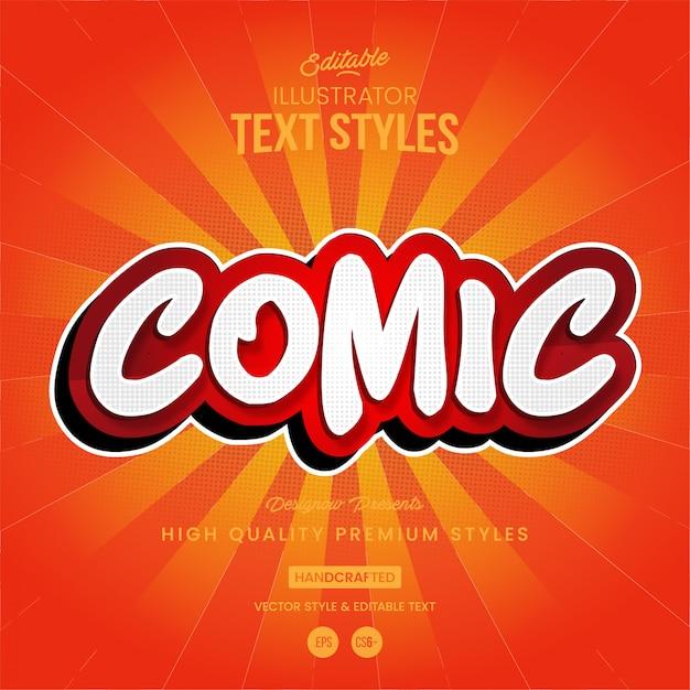 Estilo de texto de quadrinhos Vetor Premium