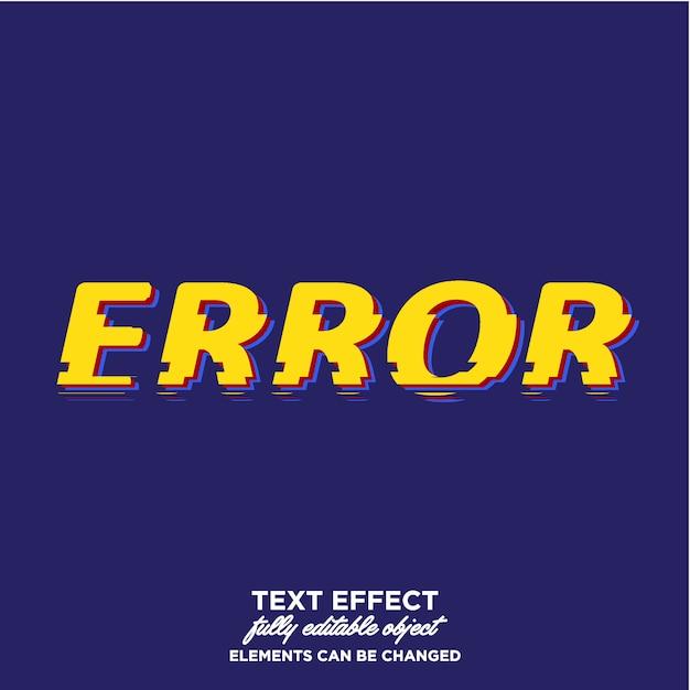 Estilo de texto falha com estilo de quebra Vetor Premium