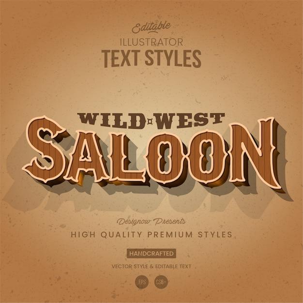 Estilo de texto ocidental Vetor Premium