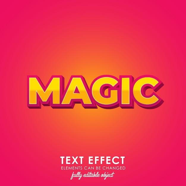 Estilo de texto premium mágico Vetor Premium