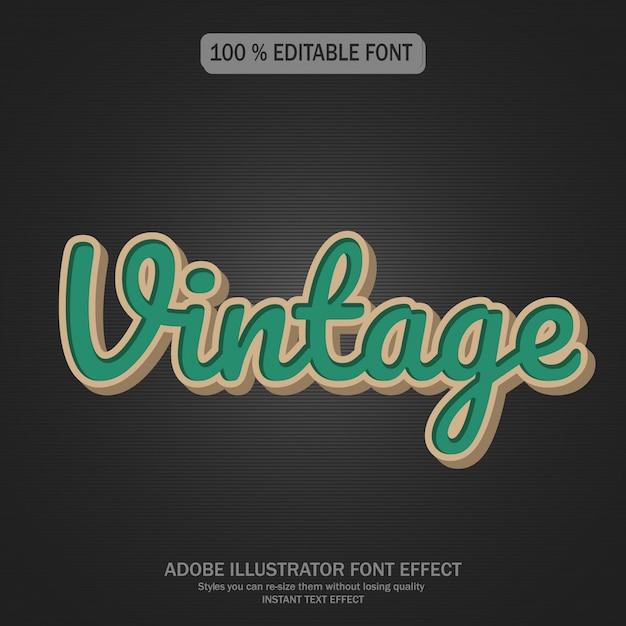 Estilo de texto vintage Vetor Premium