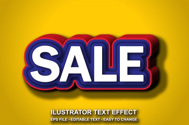 Estilo de venda de efeito de texto editável Vetor Premium