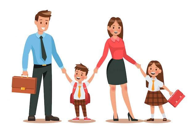 Estilo de vida familiar Vetor Premium