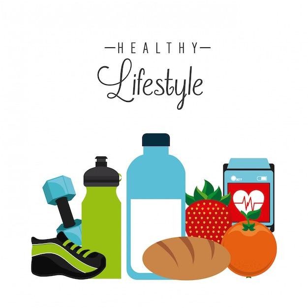 Estilo de vida saudável Vetor Premium
