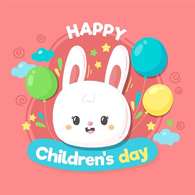 Estilo desenhado à mão para o dia mundial da criança Vetor grátis