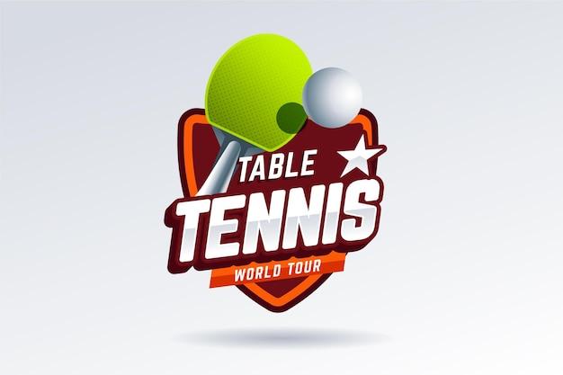 Estilo detalhado do logotipo de tênis de mesa Vetor grátis