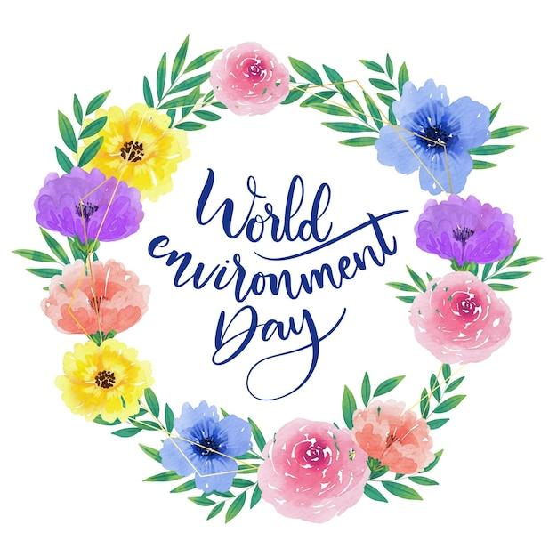 Estilo do dia mundial do meio ambiente Vetor grátis