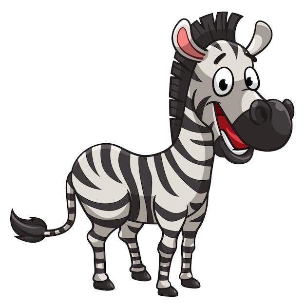 Estilo Dos Desenhos Animados Da Zebra