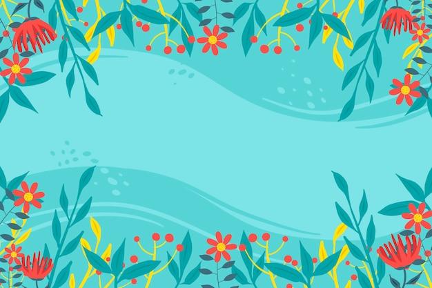 Estilo floral abstrato base plana Vetor grátis