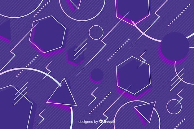 Estilo geométrico de fundo colorido dos anos 80 Vetor grátis