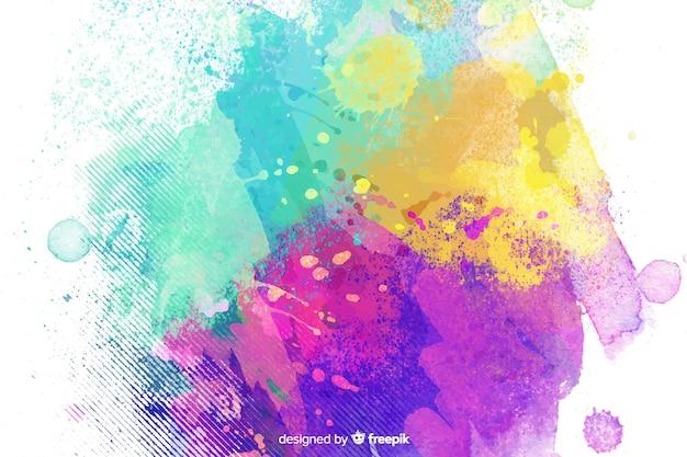 Estilo infantil de fundo de cores misturadas Vetor grátis