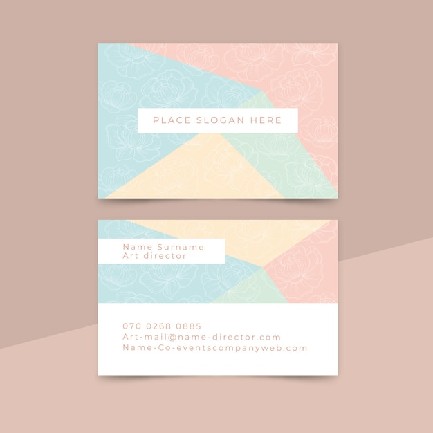 Estilo minimalista de cartão de visita Vetor grátis