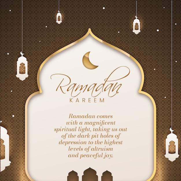 Estilo plano de celebração do ramadã Vetor grátis