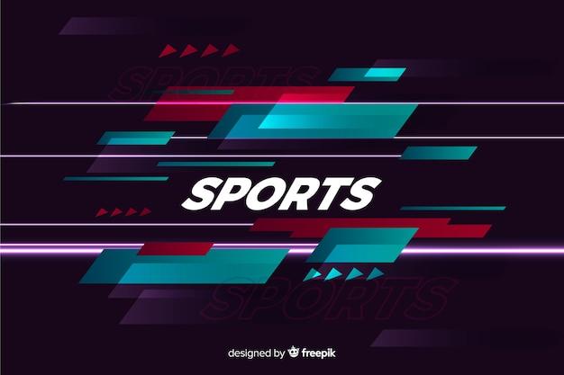 Estilo plano de fundo abstrato esporte Vetor grátis