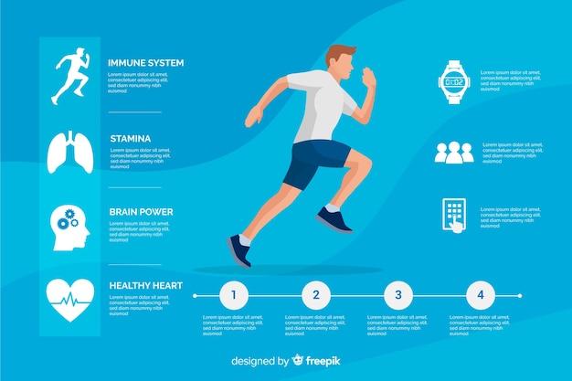 Estilo plano de saúde infográfico modelo Vetor grátis