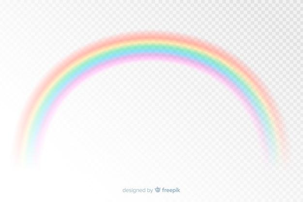 Estilo realista de arco-íris decorativo colorido Vetor grátis
