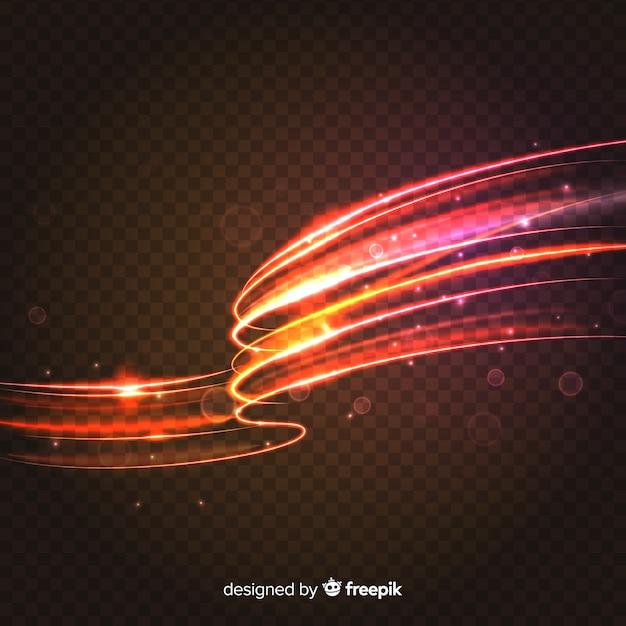 Estilo realista de efeito de luz de curva Vetor grátis