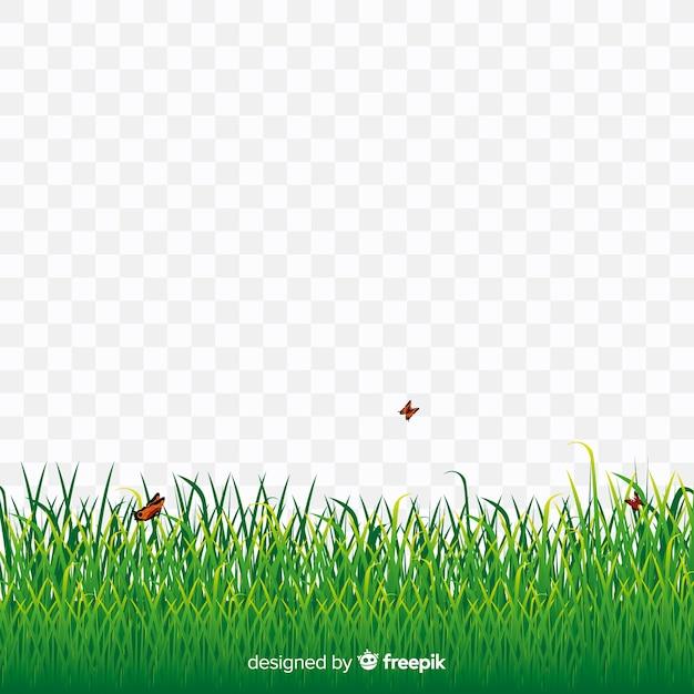 Estilo realista de grama verde bandeira Vetor grátis