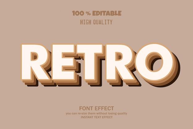 Estilo retro do texto 3d, Vetor Premium
