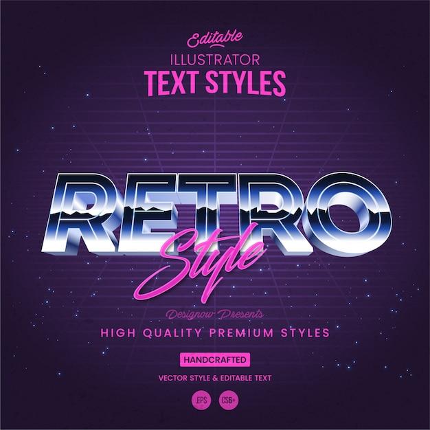 Estilo retro do texto 80s Vetor Premium