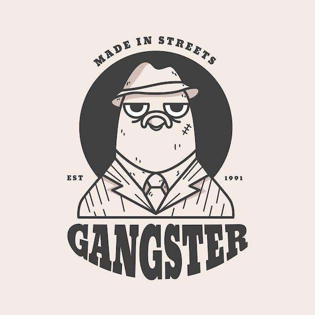 Estilo retrô para logotipo de gangster Vetor grátis