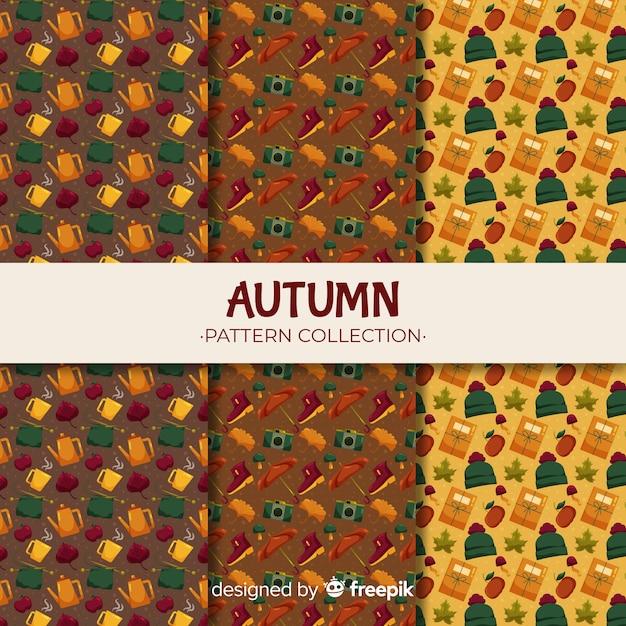 Estilo simples de coleção outono padrão Vetor grátis