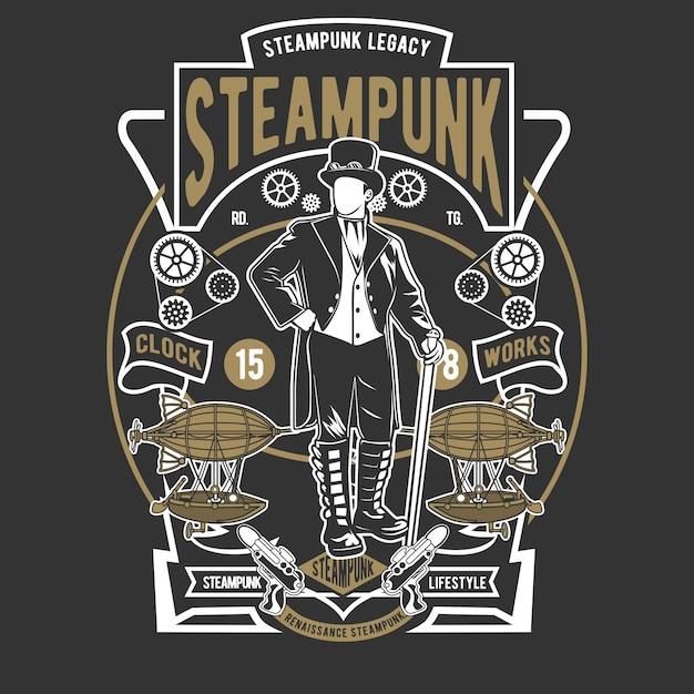 Estilo steampunk Vetor Premium