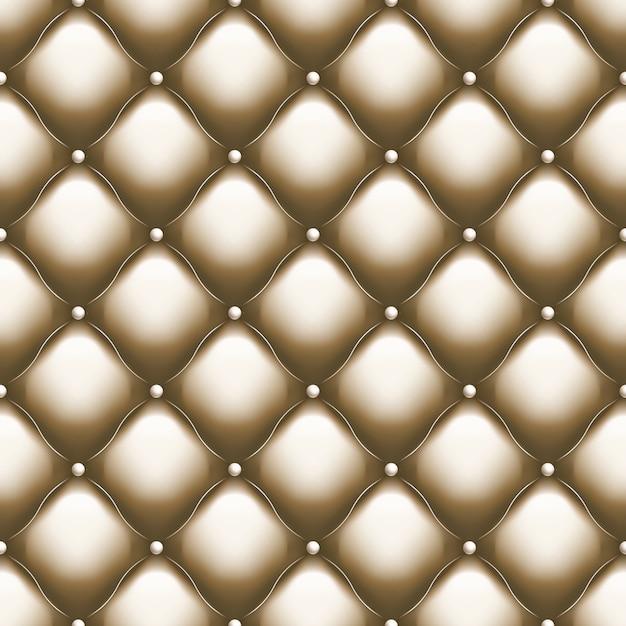 Estofados decorativos soft gloss sem costura padrão acolchoado. modelo de luxo verdadeiro com fio de ouro. e também inclui Vetor Premium