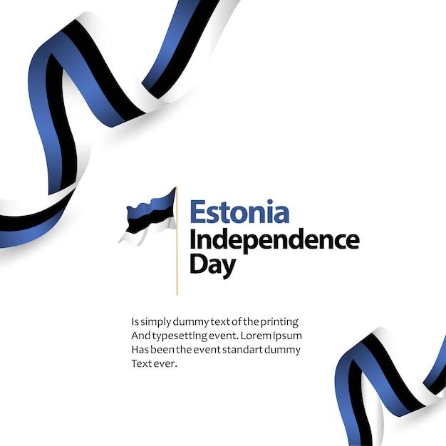Estónia dia da independência vector design ilustração do modelo Vetor Premium