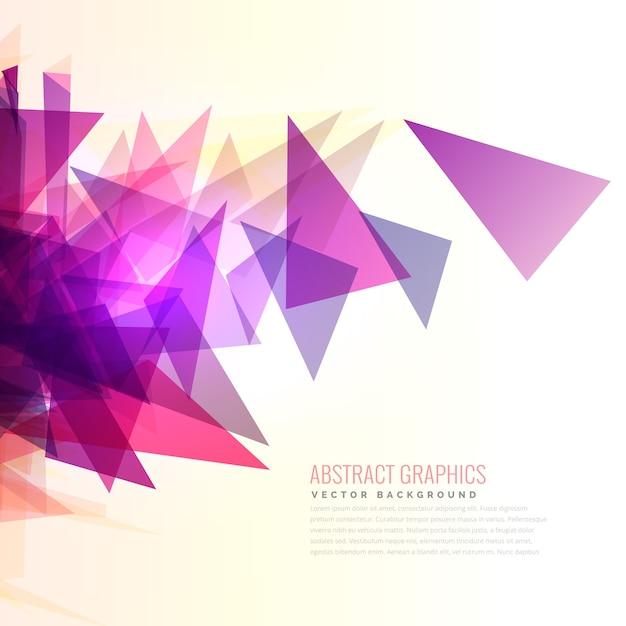 Estouro do sumário de rosa e roxo triângulos forma Vetor grátis