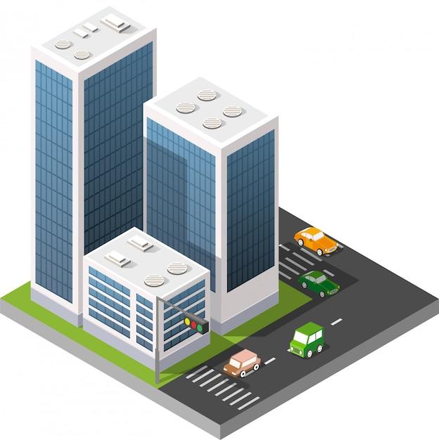 Estrada urbana de transporte Vetor Premium