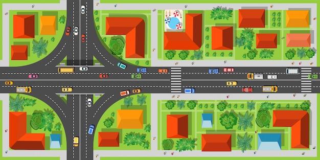 Estradas de junção da estrada Vetor Premium