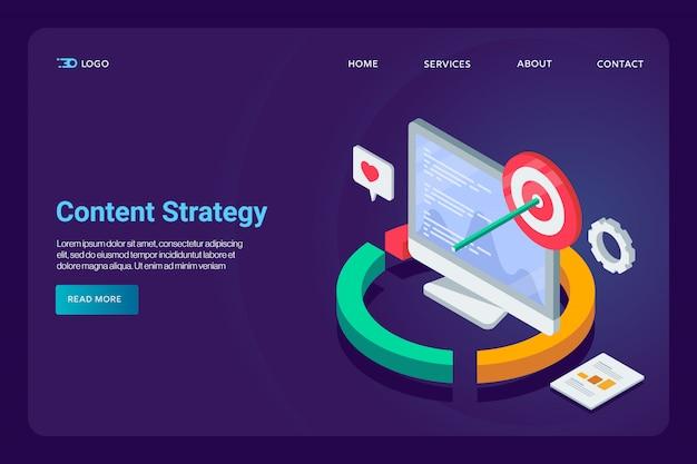 Estratégia de conteúdo conceitual Vetor Premium