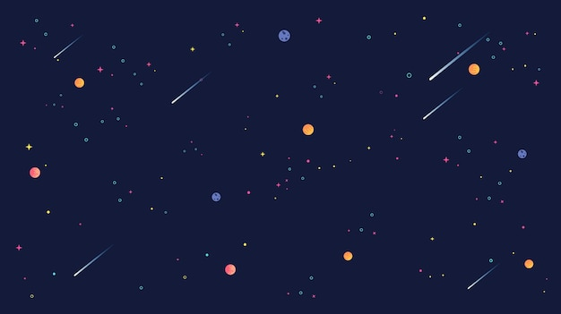 Ilustração Gratis Espaço Todos Os Universo Cosmos: Estrela Cadente E Estrela Universo Ilustração De Fundo