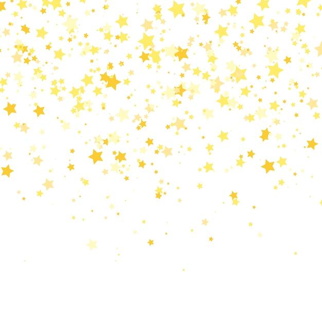 Estrela de ouro . brilho padrão de confete. Vetor Premium