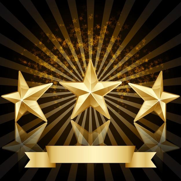 Estrela do ouro prêmio vector fundo Vetor grátis