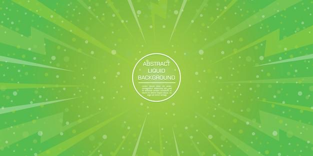 Estrela e bokeh abstrato verde gadient formas dinâmicas de fundo Vetor Premium