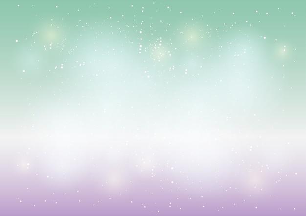 Estrela e bokeh de fundo claro colorido abstrato Vetor Premium