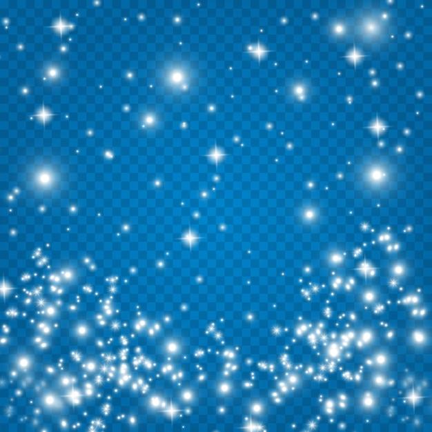 Estrela fascinante brilha, poeira brilhante. . Vetor Premium