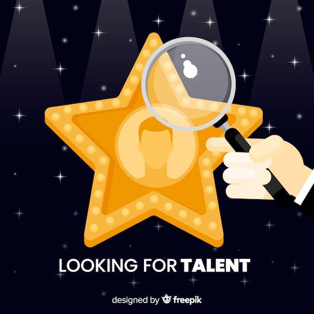 Estrela procurando fundo de talento Vetor grátis