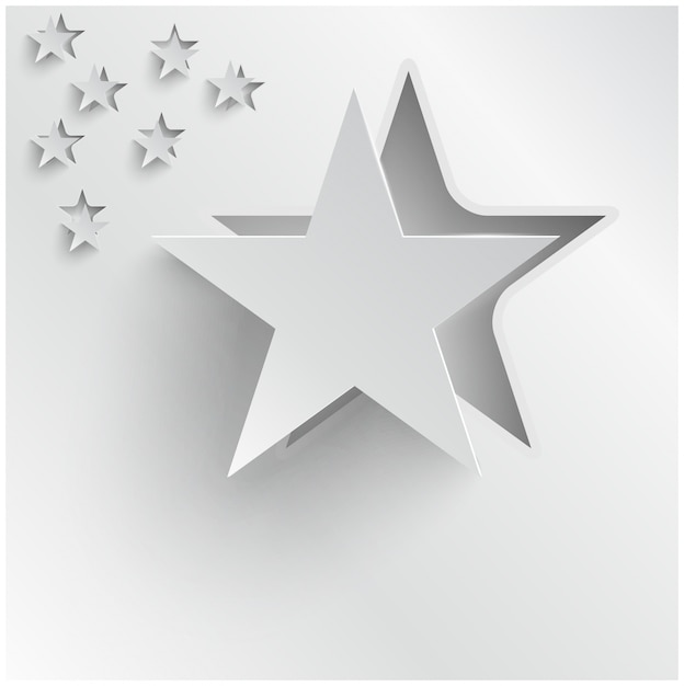 Estrelas abstratas do vetor abstrato. designer de web Vetor grátis