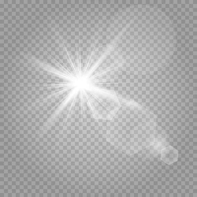 Estrelas brilhantes e brilho ofuscante Vetor Premium
